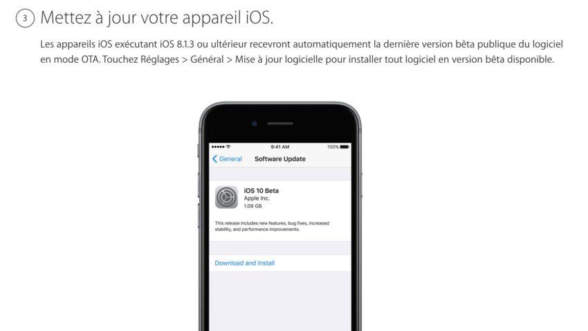 3 Comment installer iOS 11 bêta 2 publique sur iPhone, iPad et iPod Touch