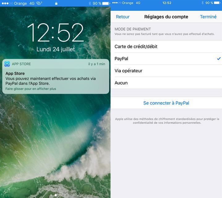 App Store PayPal App Store : on peut désormais utiliser son compte PayPal pour les achats