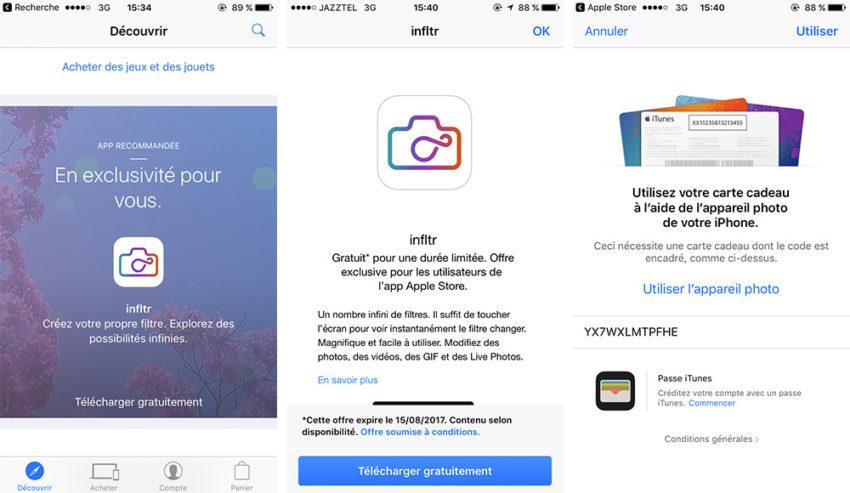 Infiltr Apple store gratuite Bon plan : infltr gratuite au lieu de 2,29€ en ce moment