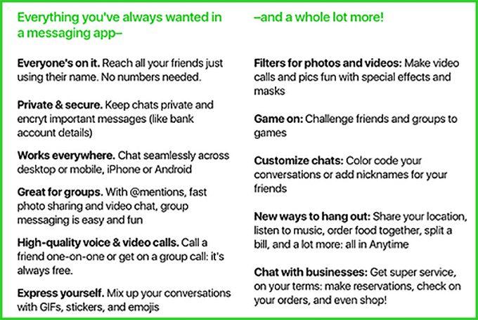 amazon anytime fonctionalites Anytime de Amazon, une appli de messagerie instantanée pour concurrencer Whatsapp et Messenger