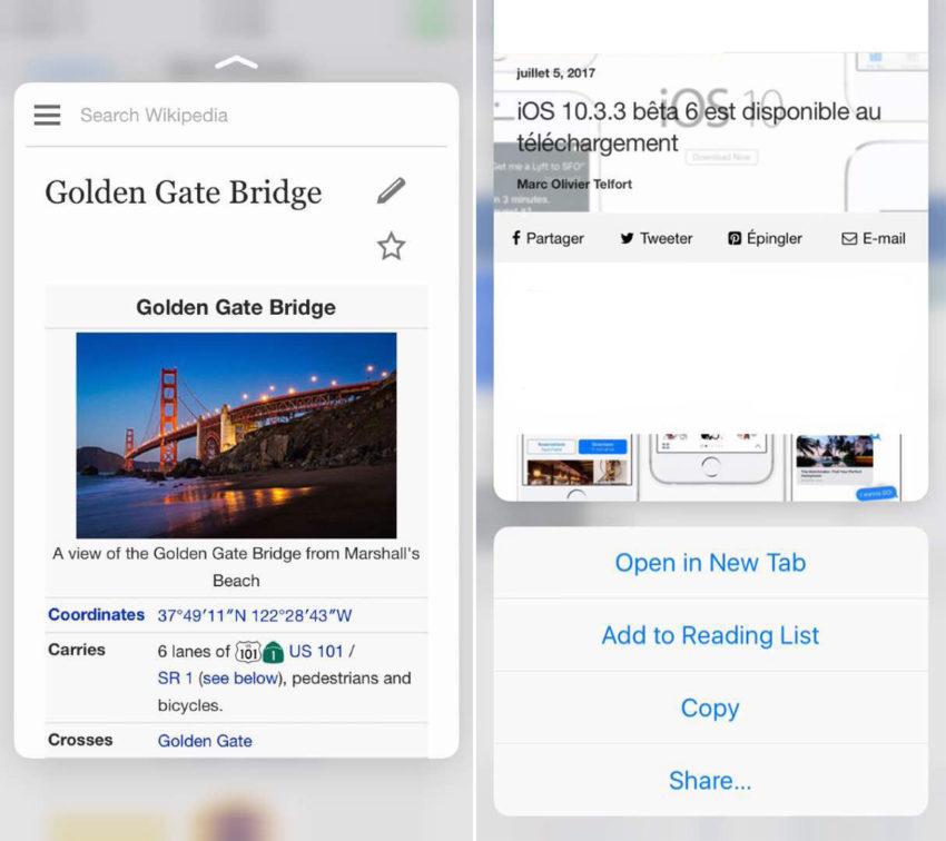 astuces safari app4phone 3d touch 850x756 Safari : 10 astuces pour vous aider à mieux naviguer sur le web