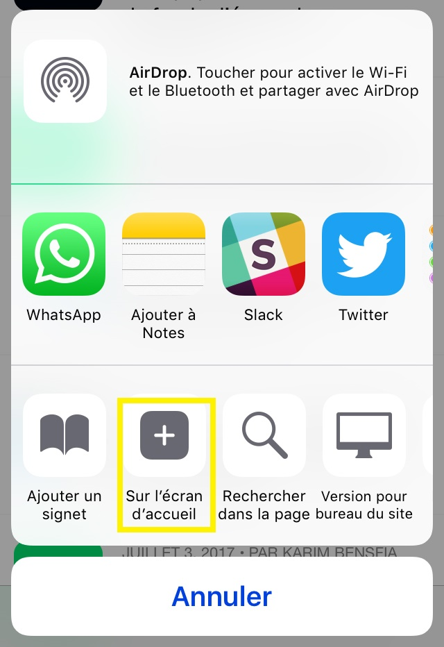 astuces safari app4phone ecran accueil Safari : 10 astuces pour vous aider à mieux naviguer sur le web
