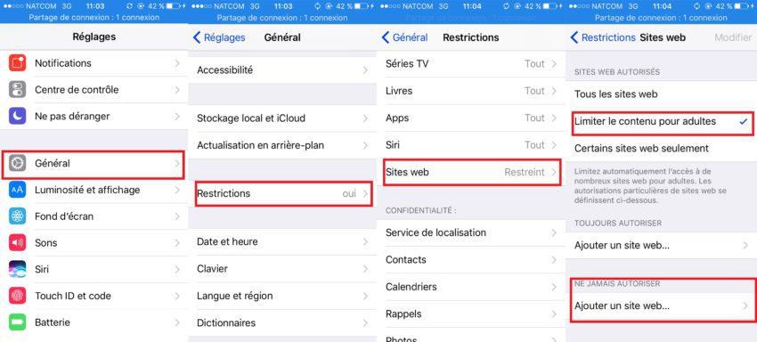 astuces safari app4phone sites web restriction 850x384 10 astuces Safari qui vous permettront dutiliser à fond le navigateur
