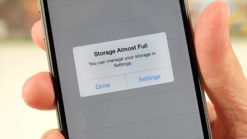 iphone memoire pleine iOS 10.3.3 peut vous faire gagner jusquà 1Go de mémoire