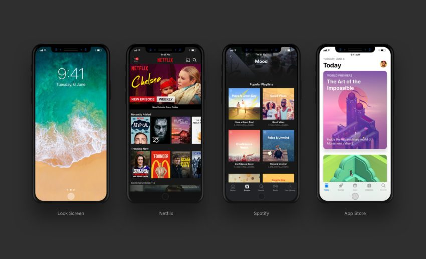 DG PAw8UMAEBVyN iPhone 8 : aperçu des applis Netflix, Spotify, App Store et Vidéos