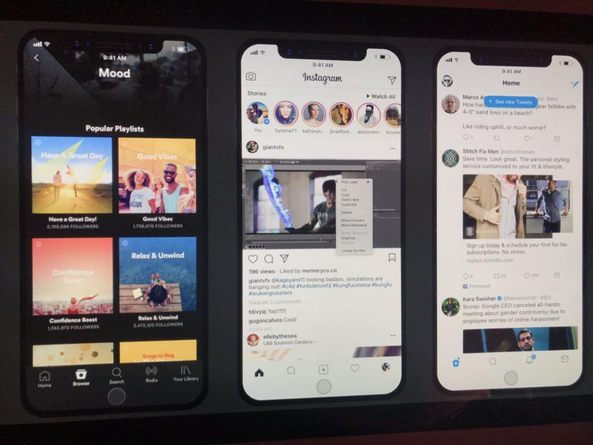 DG59iu5UMAE10xp iPhone 8 : aperçu des applis Netflix, Spotify, App Store et Vidéos