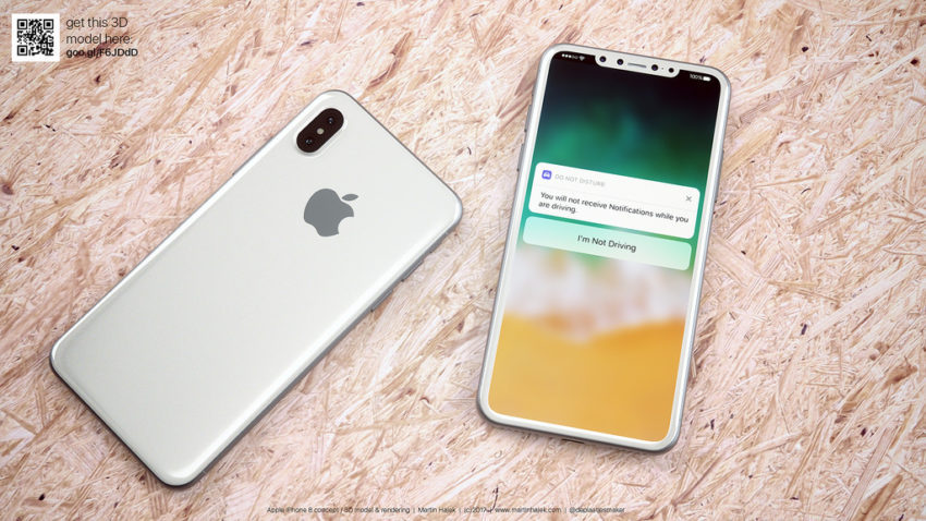 iPhone 8 850x478 iPhone 8 : des gestes et un Dock pour remplacer le bouton Home ?