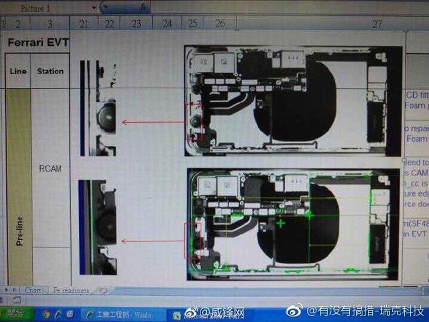 iphone8 recharge sans fil rayonX iPhone 8 : la recharge sans fil confirmée par une photo aux rayons X