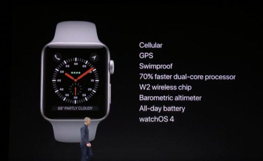 apple watch series 3 details 850x522 Bilan Keynote 2017 : iPhone 8/8 Plus, iPhone X, Apple Watch Series 3, Apple TV 4K HDR