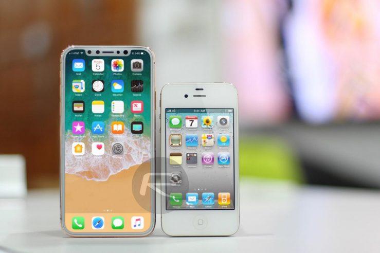 iPhone 8 vs iPhone 4 L'écran de liPhone 8 comparé à celui de liPhone 7 Plus et les autres modèles