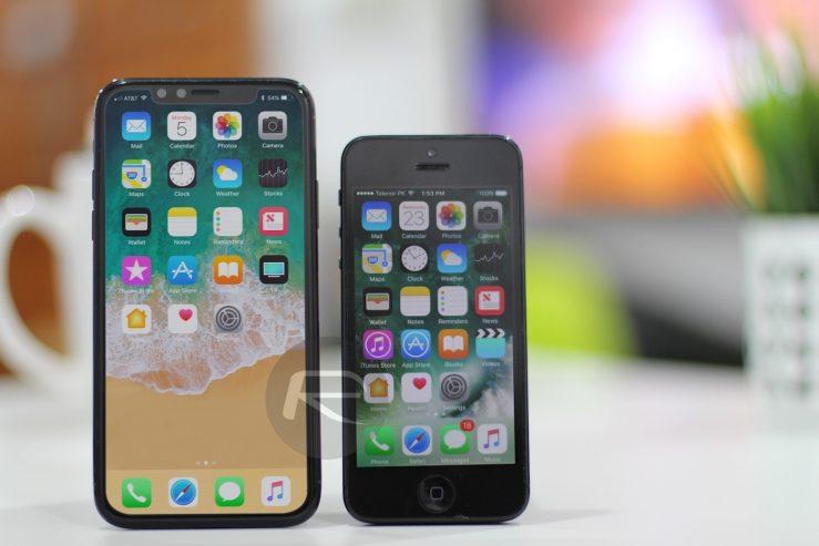 iPhone 8 vs iPhone 5 L'écran de liPhone 8 comparé à celui de liPhone 7 Plus et les autres modèles