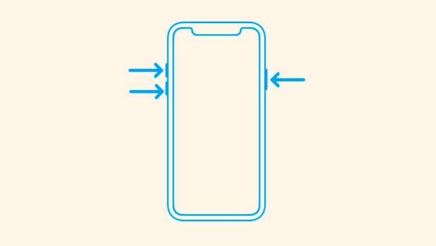 iPhone x redemarrage force 850x479 Comment faire un redémarrage forcé sur liPhone 8 et 8 Plus ?