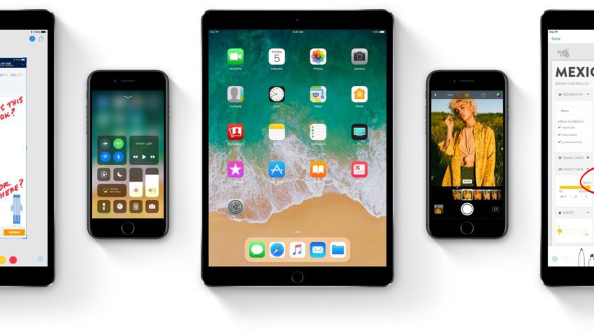 ios 11 iphone ipad 850x478 iOS 11 est disponible pour iPhone, iPad et iPod touch