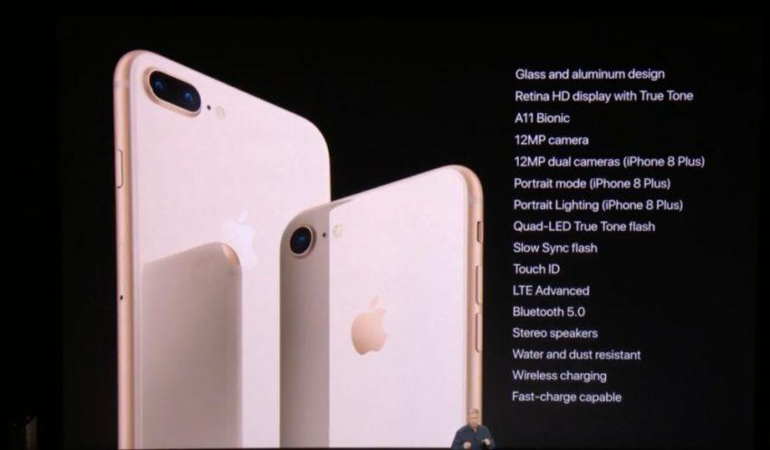 iphone 8 8 plus details 850x497 Bilan Keynote 2017 : iPhone 8/8 Plus, iPhone X, Apple Watch Series 3, Apple TV 4K HDR