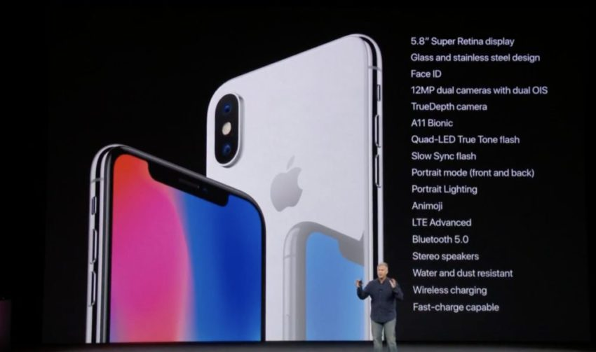 iphone x details 850x503 Bilan Keynote 2017 : iPhone 8/8 Plus, iPhone X, Apple Watch Series 3, Apple TV 4K HDR