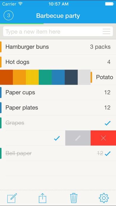 Grocery List Applis pour iPhone : les bons plans du lundi 30 octobre 2017
