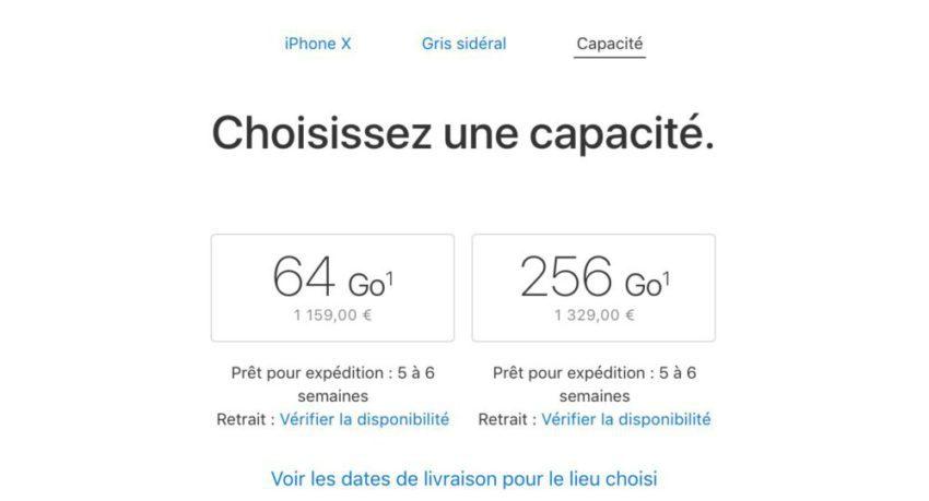 IMG 2774 850x459 iPhone X : rupture de stocks, 5 à 6 semaines avant la livraison