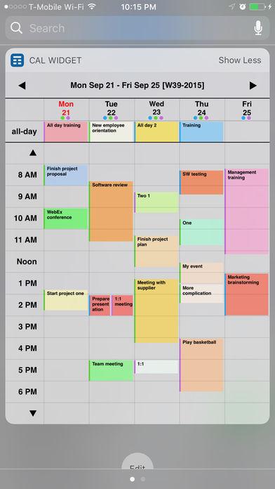 Week Calendar Widget Pro Applis pour iPhone : les bons plans du lundi 23 octobre 2017