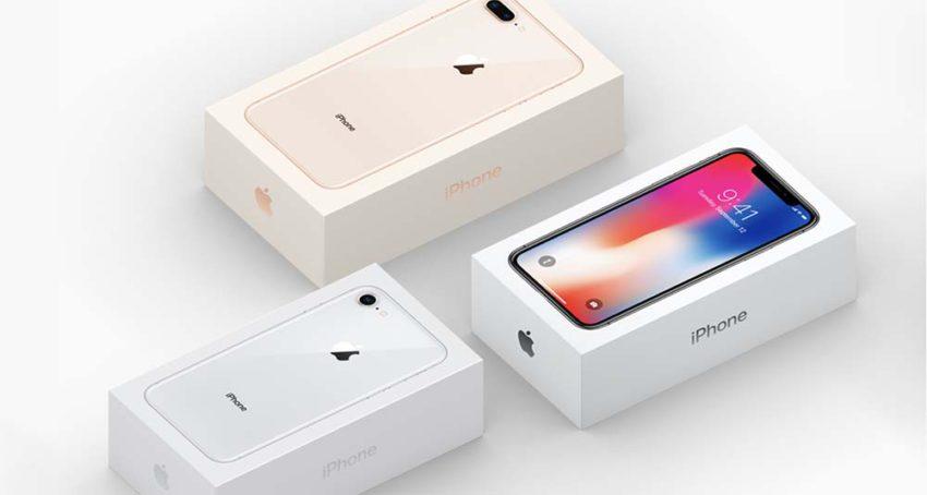 boite iphone x iphone 8 8 plus 850x454 Une boite de liPhone X fait son apparition sur le site dApple