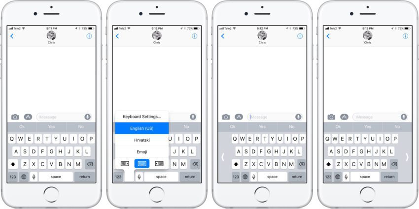 clavier ios 11 850x425 Comment utiliser le clavier de liPhone avec une seule main sur iOS 11