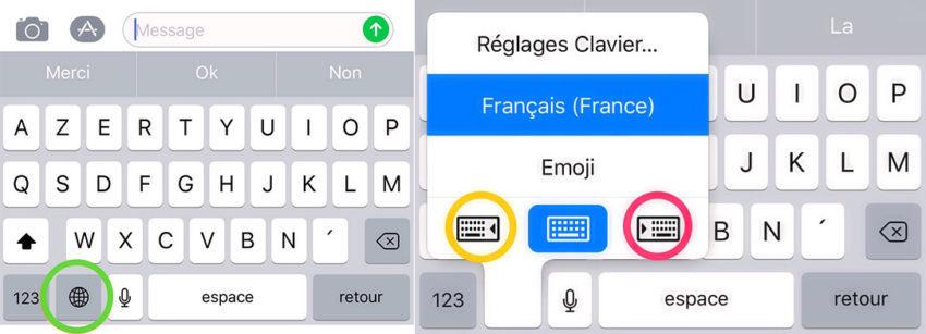clavier lateral ios 11 850x307 Comment utiliser le clavier de liPhone avec une seule main sur iOS 11