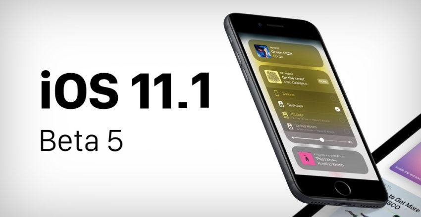 iOS 11 1 Beta 5 850x439 iOS 11.1 bêta 5 est disponible pour iPhone, iPad et iPod touch