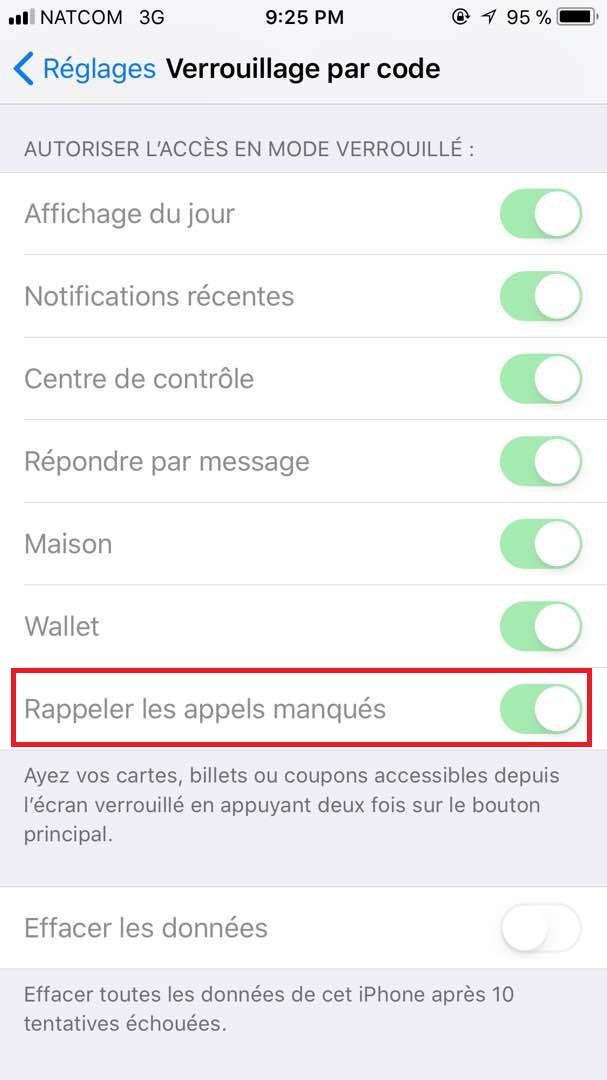 ios 11 proteger ses appels manques capture ecran Astuce pour protéger ses appels manqués sur iOS 11