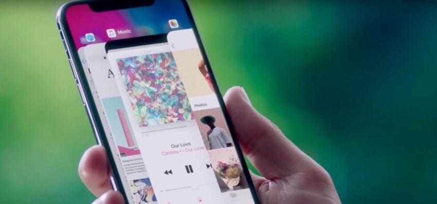 iphone x app switcher 850x398 Le geste pour changer dapplication sur liPhone X démontré en vidéo