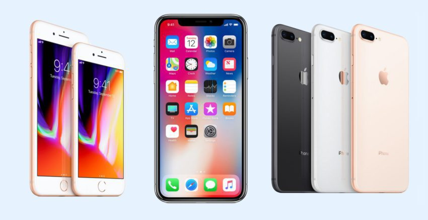 iphone x iphone 8 iphone 8 plus 850x437 Qualcomm cherche à entraver la production et la vente des iPhone en Chine