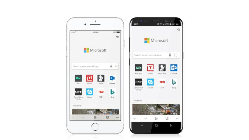 Microsft Edge iOS Android 850x478 Le navigateur Microsoft Edge est désormais disponible sur lApp Store