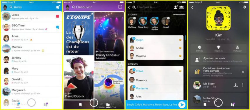 Snapchat Nouveau Design 850x376 Snapchat lève le voile sur un nouveau design