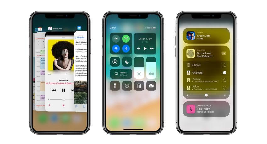 iPhone X iOS 11 850x460 LiPhone X reçoit des premiers utilisateurs un score de 4,6 sur 5