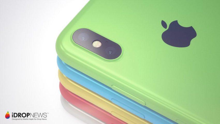 Concept iPhone Xc 2 850x478 iPhone Xc : un concept diPhone X à la sauce dun iPhone 5c
