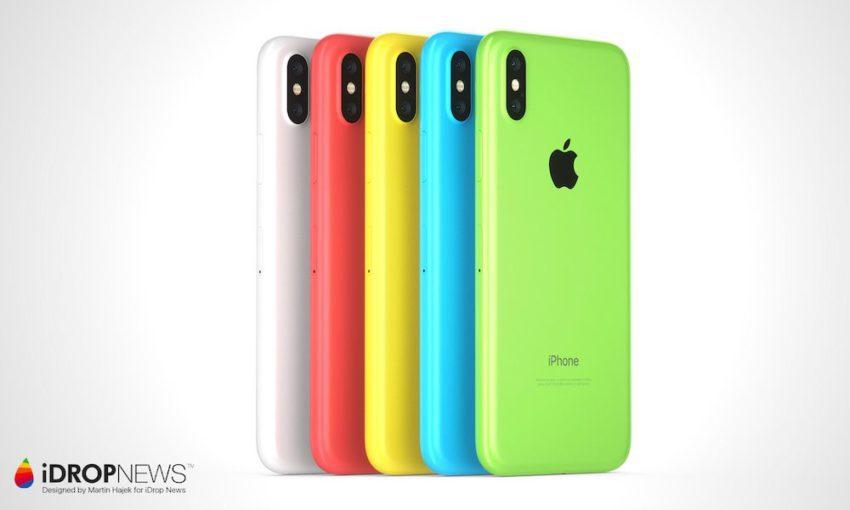 Concept iPhone Xc 850x510 iPhone Xc : un concept diPhone X à la sauce dun iPhone 5c