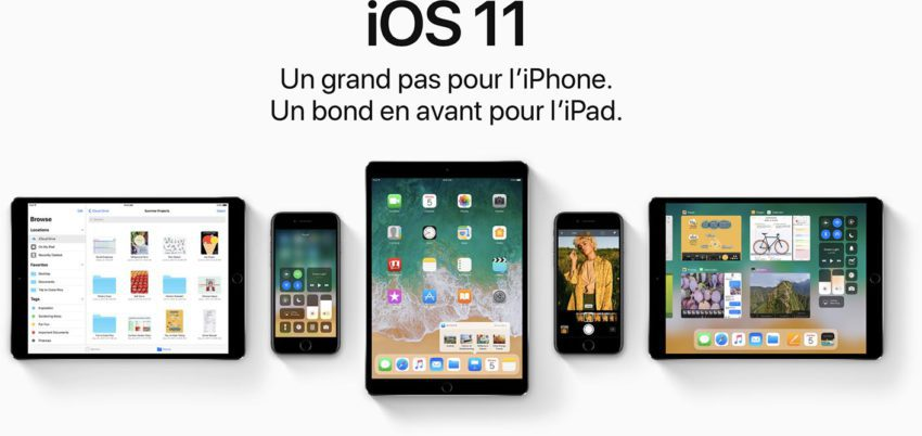 iOS 11 iPhone iPad iPod touch 850x402 Apple relâche iOS 11.3 bêta 5 pour iPhone, iPad et iPod touch