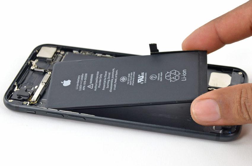 iPhone 7 Batterie 850x562 Le remplacement de la batterie des iPhone à 29€ est limité à une réparation par iPhone