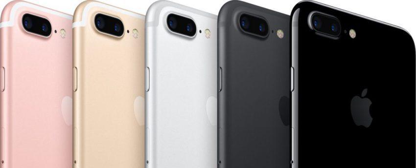 iPhone 7 Plus Arriere Or Argent Rose Noir Noir Jais  850x344 Un iPhone de 6,1 pouces avec un écran LCD et un dos en aluminium pour 2018 ?