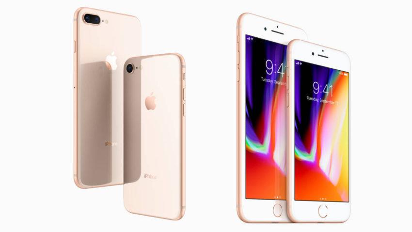 iPhone 8 Plus iPhone 8 850x479 Les iPhone 8 et 8 Plus ont dominé les ventes de smartphones pour le mois doctobre