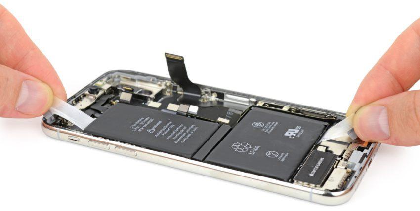 iPhone X Batterie L 850x428 Une batterie en L, comme sur liPhone X, pour les prochains iPhone de 2018 ?