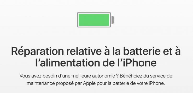 Remplacement Batterie iPhone Le remplacement de la batterie des iPhone à 29€ est limité à une réparation par iPhone