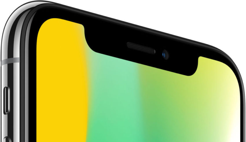 iPhone X Encoche 850x492 Apple aurait l'idée d'abandonner l'encoche sur les iPhone de 2019 ?