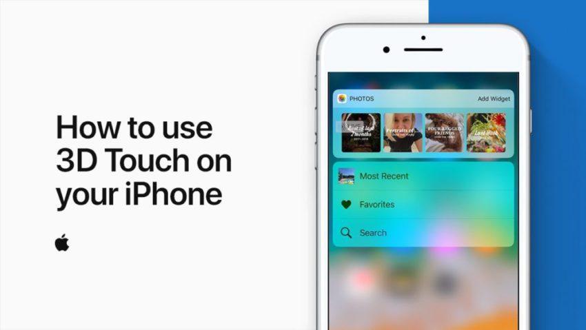 3D Touch Apple 850x479 Apple explique dans une vidéo comment utiliser 3D Touch sur iPhone