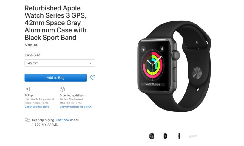 Apple Watch Series 3 Reconditionnee Apple met en vente des Apple Watch Series 3 reconditionnées