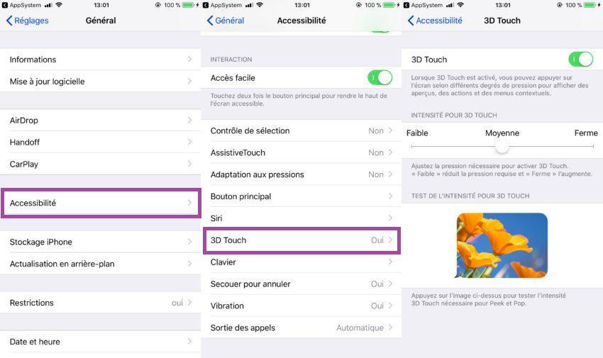 Comment Modifier 3D Touch iPhone 850x505 Apple explique dans une vidéo comment utiliser 3D Touch sur iPhone