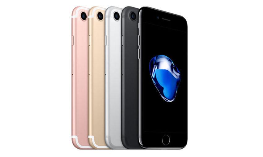 iPhone 7 Couleurs 850x507 Apple lance un programme de réparation des iPhone 7 affichant « Aucun service »