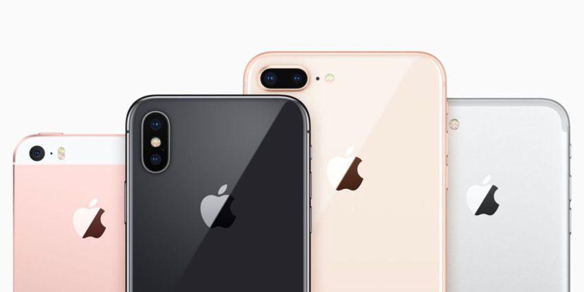 iPhone SE iPhone X iPhone 8 Plus iPhone 7 850x425 Voici les résultats financiers d'Apple pour le 1er trimestre de 2018