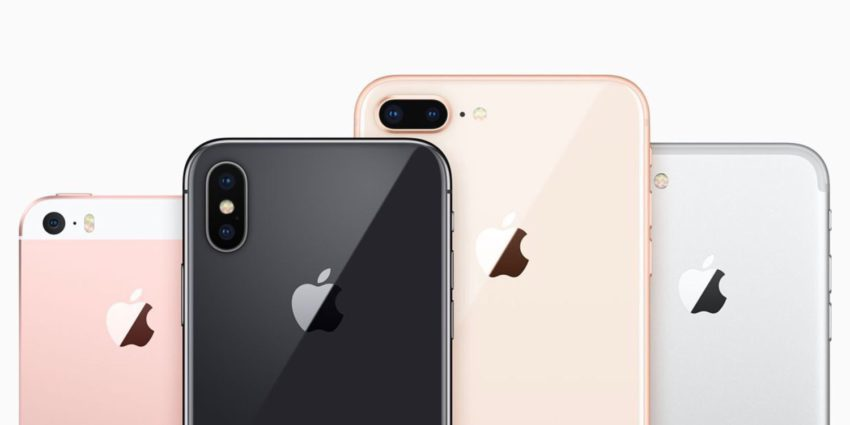 iPhone SE iPhone X iPhone 8 Plus iPhone 7 850x425 Voici les résultats financiers d'Apple pour le 1er trimestre de 2018