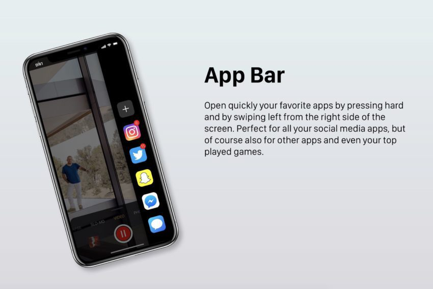 Barre Application iOS 12 850x567 Un concept iOS 12 qui étale plusieurs nouveautés et fonctionnalités épatantes
