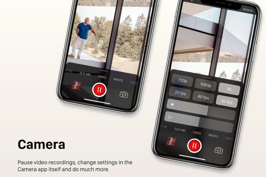 Concept Camera iOS 12 850x566 Un concept iOS 12 qui étale plusieurs nouveautés et fonctionnalités épatantes
