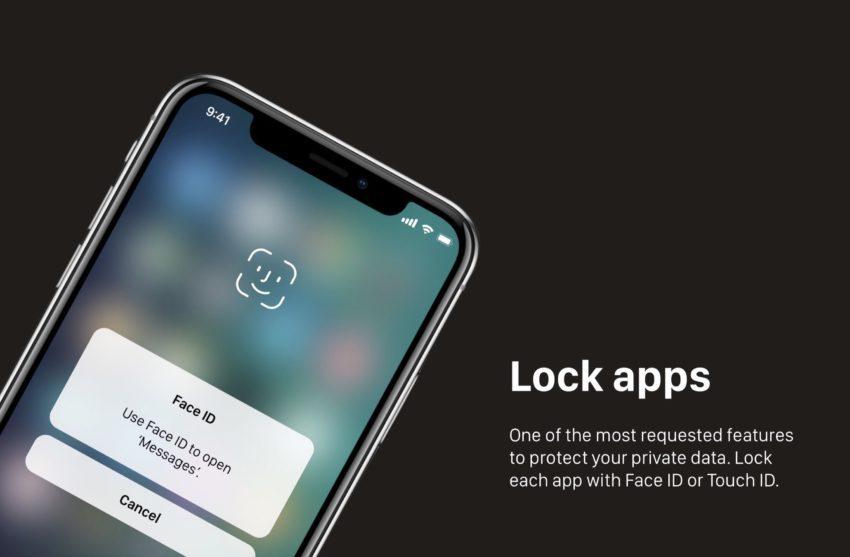 Lock Specific Apps iOS 12 Concept 850x557 Un concept iOS 12 qui étale plusieurs nouveautés et fonctionnalités épatantes